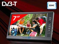 "Portally-TV 7""-Mediaplayer mit DVB-T & SDHC-Videorecorder(refurbished)"